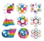 Inzamelingsinfographics De elementen van het ontwerp Infographics voor bedrijfspresentaties of informatiebanner Royalty-vrije Stock Foto