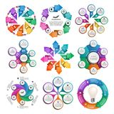 Inzamelingsinfographics De elementen van het ontwerp Infographics voor bedrijfspresentaties of informatiebanner Stock Fotografie