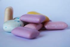 Inzamelingsreeks van kauwgom stock afbeeldingen