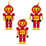 Inzamelingsrobots in actie Stock Afbeeldingen