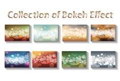 Inzamelingssamenvatting bokeh Royalty-vrije Stock Afbeeldingen