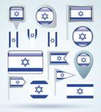 Inzamelingsvlag van Israël, vectorillustratie royalty-vrije illustratie