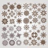 Inzamelingswijnoogst snowflackes Stock Foto