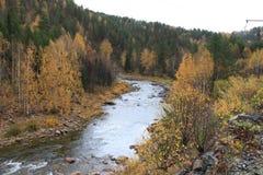 Inzer del río de la montaña Fotografía de archivo libre de regalías