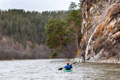 Inzer river rafting in the southern Urals Stock Photos