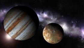 Io с Юпитером Иллюстрация штока