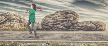 τρέχοντας νεολαίες κορ&io Στοκ Εικόνες