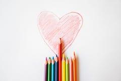 η καρδιά χρωμάτισε το κόκκ&io Στοκ Εικόνες
