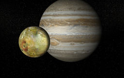 Io And Jupiter Stock Image
