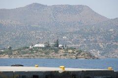 ażio Crete Nikolaos Widok od morza Zdjęcie Royalty Free