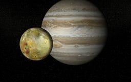 Io en Jupiter Stock Afbeelding