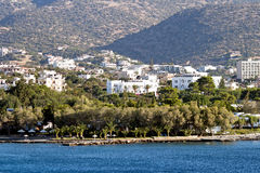 Ażio Nikolaos miasto przy Crete Fotografia Stock