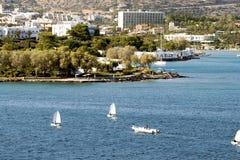 Ażio Nikolaos miasto przy Crete Zdjęcia Royalty Free