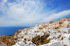 Io-Stadt auf Santorini, Italien Stockfotos