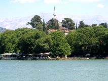Ioannina Greece. This is the lakefront in Ioannina Greece stock image