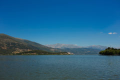 The Ioannina (Greece) lake Royalty Free Stock Photos