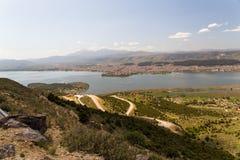 Ioannina miasta fotografii wiosny panoramiczny czas Greece Zdjęcia Royalty Free