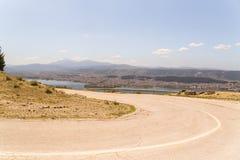 Ioannina miasta fotografii wiosny panoramiczny czas Greece Zdjęcia Stock
