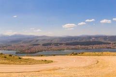 Ioannina miasta fotografii wiosny panoramiczny czas Greece Obrazy Stock
