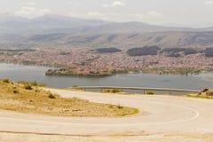 Ioannina miasta fotografii wiosny panoramiczny czas Greece Obraz Stock