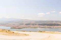 Ioannina miasta fotografii wiosny panoramiczny czas Greece Fotografia Stock