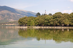 Ioannina Water-Front Royalty Free Stock Photography