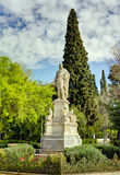 Ioannis Varvakis statue, Athens, Greece royalty free stock image