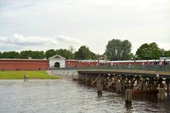 Ioannovsky桥梁在StPetersburg 免版税库存照片