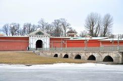 Ioannovsky Bridge in St.Petersburg. Royalty Free Stock Photo