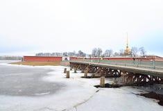 Ioannovsky Bridge in St.Petersburg. Stock Image