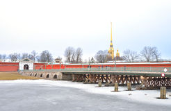 Ioannovsky Bridge in St.Petersburg. Royalty Free Stock Photography