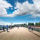 Ioannovsky bridge to the Peter and Paul fortress in Saint-Peters Stock Image