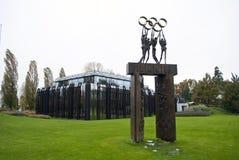 IOC die Lausanne bouwt Stock Afbeelding