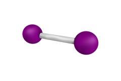 Iode, un élément chimique les plus lourds des halogènes stables, image stock