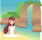 Ioga ilustração royalty free