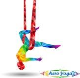 Ioga Aero Imagens de Stock