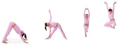 Ioga cor-de-rosa Imagem de Stock