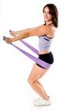 A ioga da faixa do estiramento elabora Imagem de Stock Royalty Free