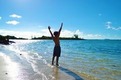 ioga da praia Fotos de Stock