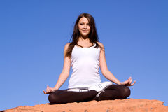 Ioga e meditação Foto de Stock Royalty Free