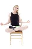 Ioga praticando da mulher Fotografia de Stock Royalty Free