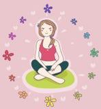 A ioga relaxa Fotografia de Stock Royalty Free