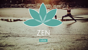Ioga Zen Serenity Relaxation Concept do equilíbrio da meditação imagens de stock