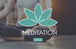 Ioga Zen Serenity Relaxation Concept do equilíbrio da meditação fotografia de stock royalty free