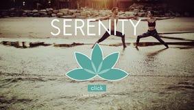 Ioga Zen Serenity Relaxation Concept do equilíbrio da meditação fotografia de stock