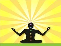 Iogue Meditating Foto de Stock Royalty Free