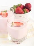 Iogurte da morango Fotografia de Stock