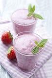 Iogurte da morango imagens de stock