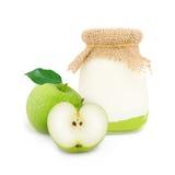 Iogurte de Apple Imagem de Stock