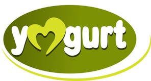 Iogurte - etiqueta do texto Imagem de Stock